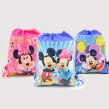 1pc\lot  Minnie Gift Bags Mickey Kids Favors Baby Shower Non-Woven Fabric Drawstring Backpack Party Decoration Birthday Supplies