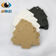 Factory direct kraft paper white card Christmas tree small tag card jewelry gift card listed hand soap label card wholesale