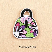 Fashion 4CM*5CM DIY Handbag Patches Embroidered Iron On Patch For Clothing Sticker Badge Paste Patches For Clothes Bag Pants
