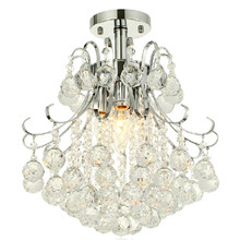 MAMEI Free Shipping 3 Lights Flush Mounted Chrome Finish Crystal Chandelier(China)