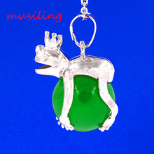 Pendulum Frog Prince Bead Various Natural Gem Stone Pendant Accessories European Fashion Jewelry Reiki Amulet 27X Mix Order