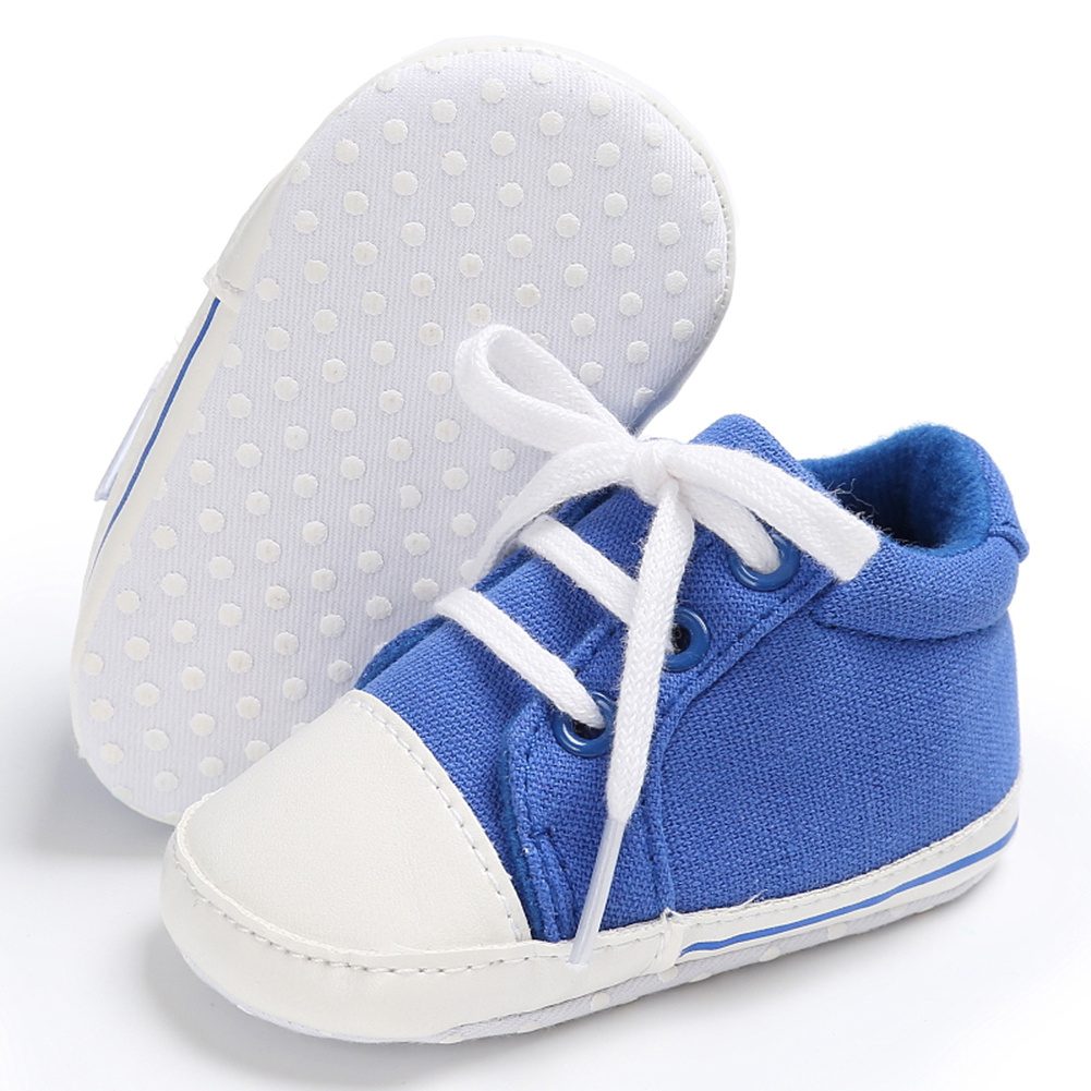 Spring Summer Newborn Canvas Shoes Sneaker Fashion 0-18 Month Baby Girls Boys Solid Soft Sole Shoes Prewalker First Walkers 7