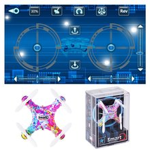 Cheerson CX-10DS 4 Channel 6 Axis Gyro System LED Mini RC Helicopter Quadcopter High Hold Mode via Mobile Controlled