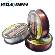 WDAIREN 100M Fluorocarbon Fishing Line red/clear two colors 4-32LB Carbon Fiber Leader Line fly fishing line pesca FA-476(China)