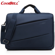 Cool Bell Fashion 17.3 inch Laptop Bag 17 Notebook Computer Bag Waterproof Messenger Shoulder Bag Men Women Briefcase Business(China)