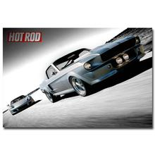 NICOLESHENTING Hot Rod Muscle Car Art Silk Fabric Poster Print Classic Car Pictures For Living Room Decor 012