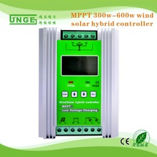 MPPT Mode Top Quality 12V/24V 600W Wind generator power + 300W PV Power high end wind solar hybrid controller on sale