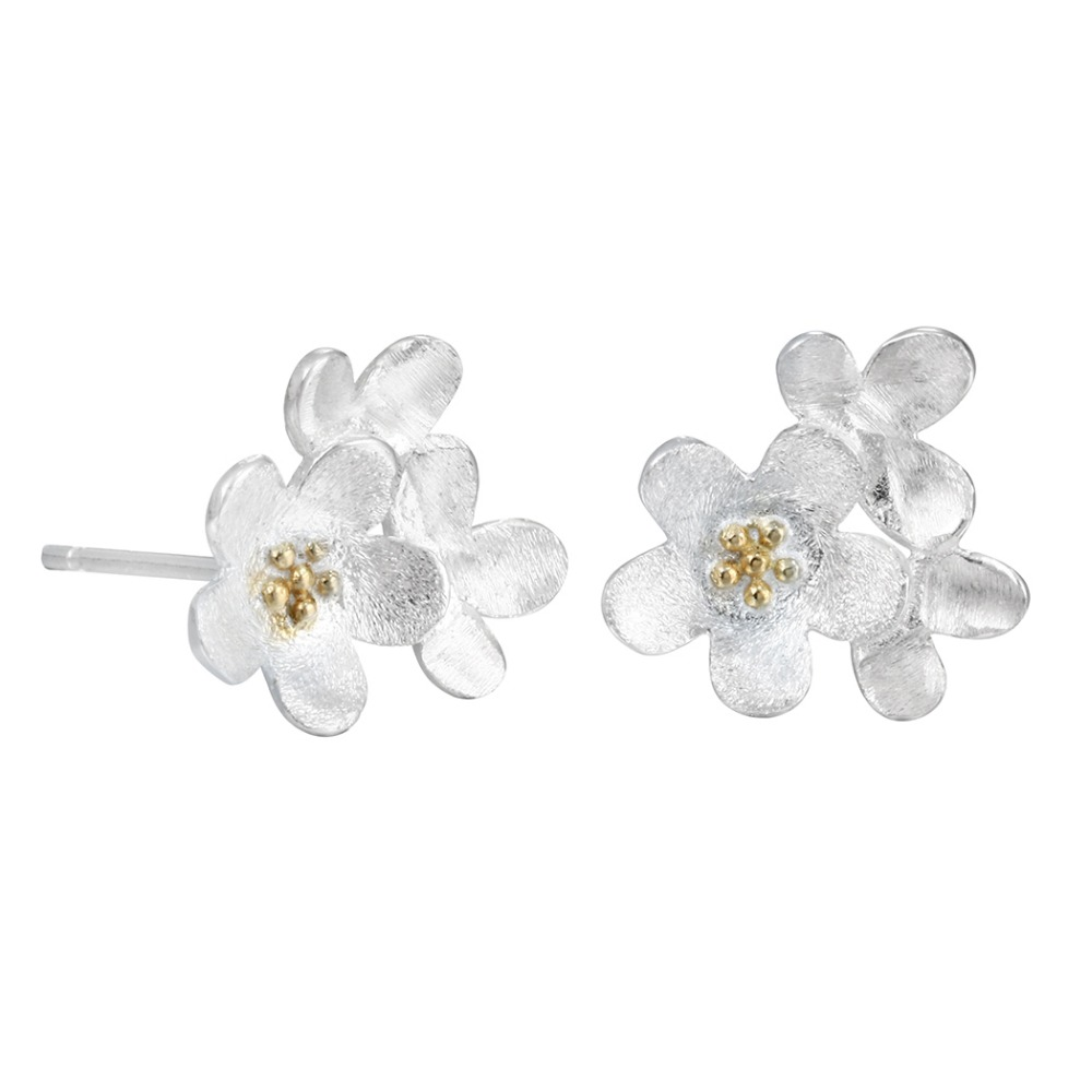 QIAMNI-925-Sterling-Silver-Lotus-Flower-Post-Stud-Earring-for-Girls-Kids-Accessories-Birthday-Christmas-Gift