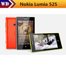 Original Nokia Lumia 525 Dual Core S4 Windows Phone 4.0 IPS ROM 8GB 5MP Fashion Cell Phone Free Shipping(China)