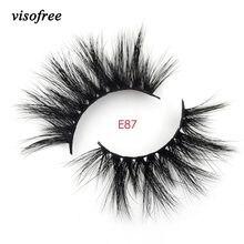 6122f2a8443 Visofree Lashes 3D Mink Eyelashes Handmade Mink Lashes cruelty-free  Lightweight False Eyelashes 25mm Dramatic