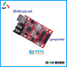 U6A HD-U6A P10 semi-outdor and outdoor red/green/yellow/white/blue LED scrolling message sign mini controller card(China)