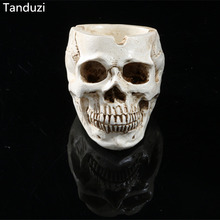 Tanduzi Home Decoration Skeleton Head Style Ashtray Resin Simulation Skeleton Head Model Halloween Props Skull Resin Crafts(China)