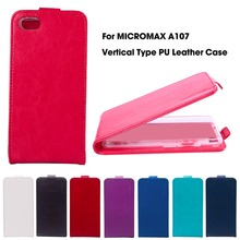 Vertical Magnetic Flip PU Leather Case For Micromax A107 Case For Micromax Canvas Fire 4 A107 4.5 inch Cover Housing Shell