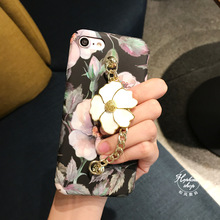 Hepu Art retro oil painting flower chain for iPhone7 phone shell Apple 6s plus full package frosted sets of hard shell female