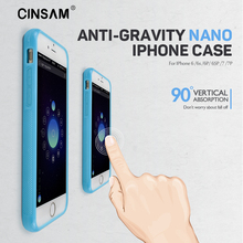 Cinsam Anti Gravity Phone Case Cover Shell For iPhone 6 6s 6P 6SP 7 7P Nano PC Suction Magical Adsorbed Body Water Clean(China)