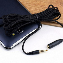 5M 16ft 3.5mm Female to Male F/M Headphone Stereo Audio Extension Cable Cord 16ft for Mp4(China)
