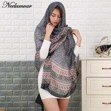 2017 new arrival Scarf Oversized voile Scarf Women Wrap Sarong Sunscreen Pareo Beach Cover Up Long Cape Female Autumn and Winter(China)