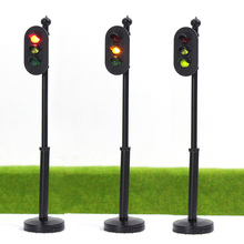 JTD255 5pcs model Traffic Signals 1:25 G Scale Crossing LED Crosswalk Signal Road Street light railway modeling model kit 1/25