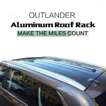 Fit for Mitsubishi Outlander 2013 2014 2015 2016 2017 High Quality Aluminium Baggage Luggage Roof Rack Bar Rails