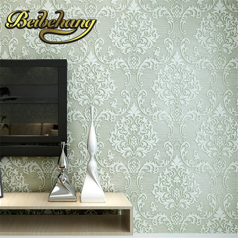 beibehang High - grade European three - dimensional non - woven wallpaper bedroom living room TV backdrop papel de parede<br>