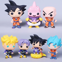 dragon ball action figure POP son goku Krillin trunks majin Buu car decoration pvc collection figurine model New year's gift toy(China)
