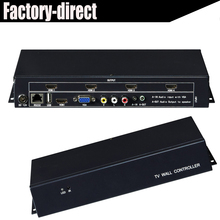 2x2 Video Wall Controller USB/HDMI/VGA/AV TV processor 4 TV shows a screen splicing For LED/LCD Display(China)