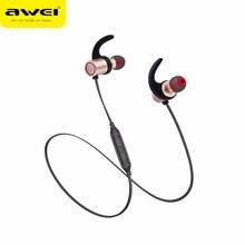 AWEI AK9 IPX4 Impermeabile di Bluetooth di Sport Auricolare Magnete  Auricolare Bluetooth Senza Fili con Microfono per Il Iphone . 91814f85ef1f