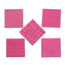 Sweater Fabric Knitting Texture Bark bricks Silicone mold Fondant Cake gumpaste Biscuits Embossed Pad Decorating Lace Mat Tool
