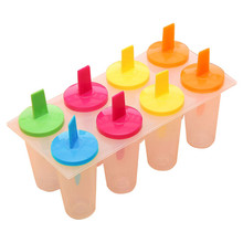 MJ095 Hot Selling 8PCS DIY Ice Cream Pop Mold Frozen Icy Ice-lolly Icepop Block Maker Set(China)