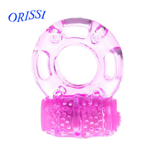 Buy ORISSI Elastic Delay Penis Rings Vibrating Cock Ring Stretchy Intense Clit Stimulation Sexy Toy Premature Ejaculation Lock