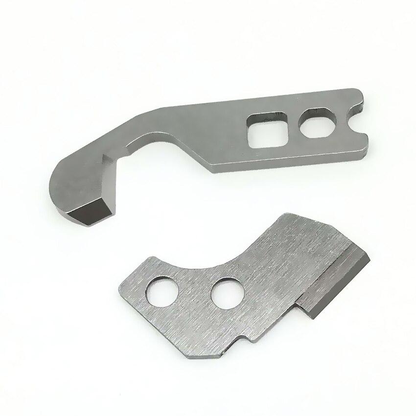 Lower couteau lame de coupe pour Bernina Bernette serger 1SET#50143403+50145403 Upper