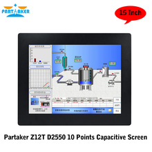 Partaker Elite Z12T 15 Inch 10 Points Capacitive Touch Screen Intel Atom D2550 Liunx All In One PC