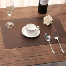 Free Shipping 4PCS PVC Placemats Dining Room Placemats Dinner Table Heat Insulation Mat Tableware Mats(China)