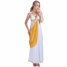 Women Sexy Greek Goddess Roman Lady Egyptian Costume Cosplay White Jumpsuit Robe Fancy Dress for Female Adult Halloween Costumes(China)