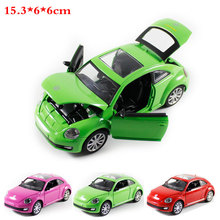 1:32 High Simulation Pull back Model Toy Model Sports car Beetle Vehicle Model Alloy Car Model toys for children