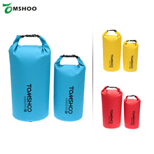 TOMSHOO 10L/20L Outdoor Waterproof Dry Bag Rafting Swimming Diving Camping Hiking Pouch Storage Bag with waterproof phone case