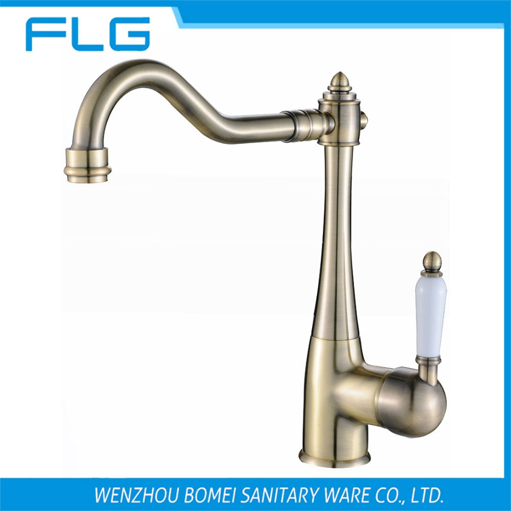 Free Shipping Single Handle Bathroom Sink Faucet FLG100254 Deck Mounted Mixer ,Bronze Brass Vessel Sink Mixer,Ceramic Handle<br><br>Aliexpress