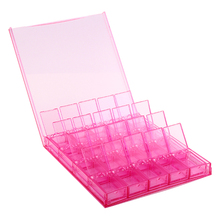 20 Compartments Transparent Acrylic Manicure Nail Art High-grade Ornament Box Earrings Removable Storage Box