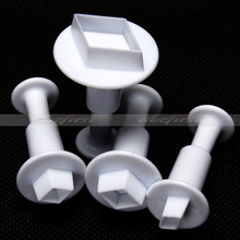4 PCS Diamond Shape Plunger Christmas Fondant Cookies Cutters Modelling Mould Paste Sugar Craft Decorating Hot Sell