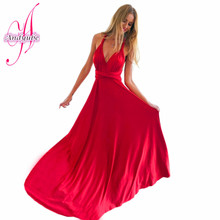 YL 2016 Summer Sexy Women Maxi Dress Red Beach Long Dress Multiway Bridesmaids Convertible Wrap Dresses Robe Longue Femme dress