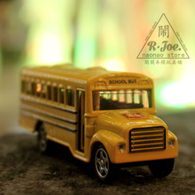 1:64 Alloy car model school bus series bus school bus car Children like the gift Family Collection Decoration Back to the car(China)
