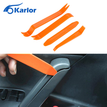 4pcs Portable Auto Car Radio Panel Door Clip Panel Trim Dash Audio Removal Installer Pry Kit Repair Tool Car-styling Accessories