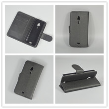 for Nokia 230 / 230 Dual SIM  Luxury Litchi leather case cover stand function for with 2 Card Holder and pouch slot