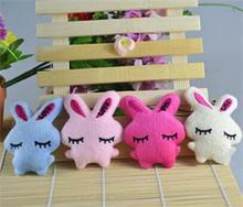 1 Pc Cartoon Rabbit Plush Toy Phone Strap Mini Heart Bowkot Stuffed Toys Kids Baby Plush Gifts Favor Dolls Random Color