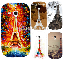Hot selling Brilliant Painting Eiffel Tower Serie mobile phone case hard Back cover Skin Shell for Samsung galaxy S3 mini i8190