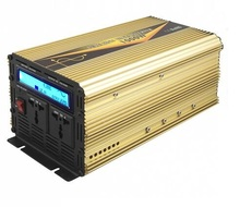 2000W peak power UPS charging inverter DC12V to AC220V 1000w pure sine wave inverter charger with LED digital display