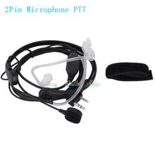 Throat Vibration Mic finger PTT Headset Earpiece for Walkie Talkie Baofeng UV-5R UV-5RE UV-82 Wouxun Two-way Radio Microphone(China)
