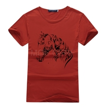 Summer Style Ink Painting Horse Pattern Print T-Shirt Men Summer Clothes 2017 Round Collar Men T Shirt Tops Brand clothing S2-R#