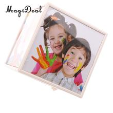 MagiDeal Creative Family Photo Frame Baby Shower Gift Home Decoration Accs Rotating Cube Picture Frame(China)