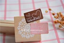 200pcs/lot restore ancient SELF adhesive DIY CAKE COOKIE backing sticker for love valentine packing advertising label seal